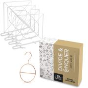 NestNeatly White Wood Shelf Dividers for Closet Organization