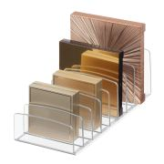 Clarity BPA-Free Plastic Divided Makeup Palette Organizer