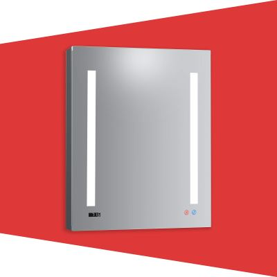 DECADOM 24in LED Mirror Medicine Cabinet Recessed or Surface