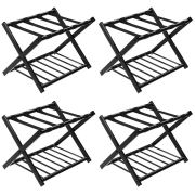 Tangkula Luggage Rack (Set of 4), Folding Metal Suitcase