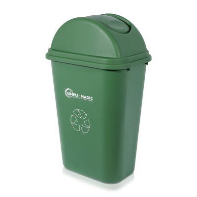 9.5 Gallons Swing-Top Lid Recycle Bin