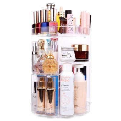 360 Degree Spinning Makeup Organizer, sanipoe Adjustable Makeup Carousel