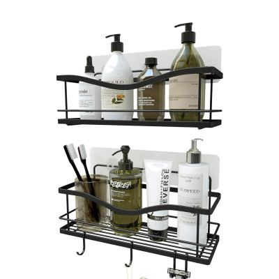 No Drilling Traceless Adhesive Bathroom Storage Organizer