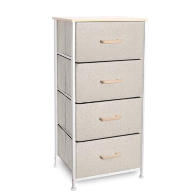 Shantton Tall Dresser with 4 Storage Bins Drawer Organizer