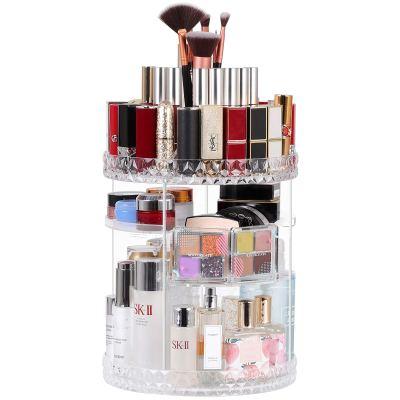 Makeup Organizer 360 Rotating Bathroom Makeup Carousel