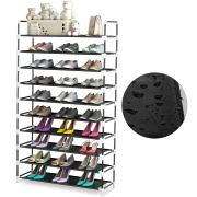 QooWare 10 Tiers Shoe Rack - Fit Up to 50 Pairs
