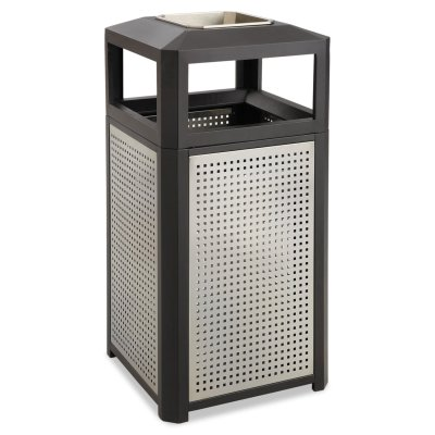 38 Gallon Trash Can with Stainless Steel Ashtray Urn