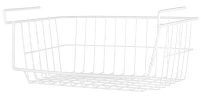 Whitmor White Wire Shelf Basket