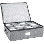 Cup and Mug Storage Box, Holds 12 Coffee Mugs and Tea Cups