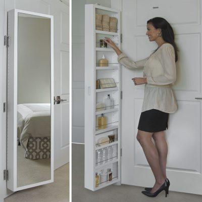 Cabidor Deluxe   Mirrored   Behind The Door   Adjustable