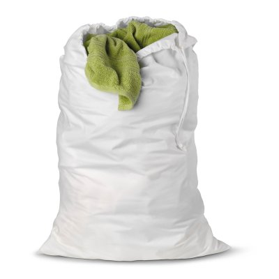 Honey-Can-Do Cotton Laundry Bag, White, One Size