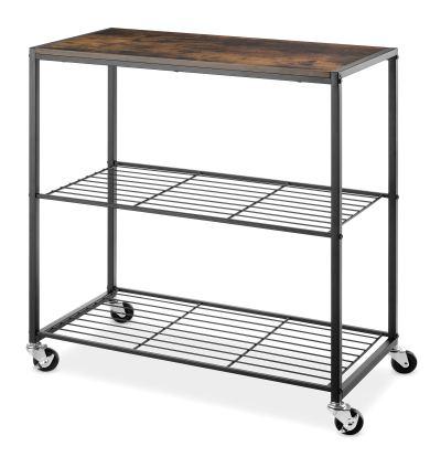 Whitmor Modern Industrial Rolling Storage Shelves