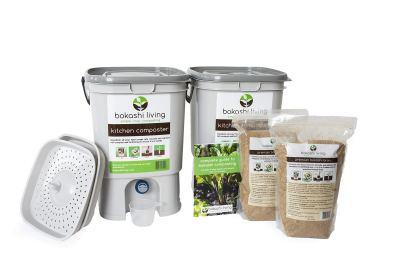 Bokashi Composting Starter Kit (Includes 2 Bokashi Bins)