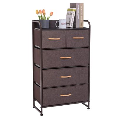 DHMAKER Tall Dresser Storage Chest, 4-Tier 5-Drawer