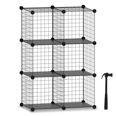 HOMIDEC Wire Cube Storage, Storage Shelves 6 Cube