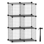 HOMIDEC Wire Cube Storage, Storage Shelves 6 Cube