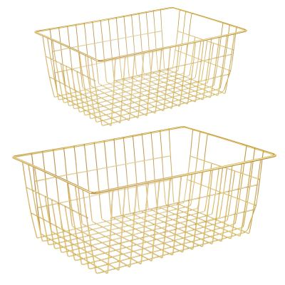 iPEGTOP Wire Storage Baskets, Large Farmhouse Metal Basket