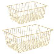 iPEGTOP Wire Storage Baskets, Large Farmhouse Metal Basket