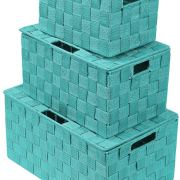 Organizer Set Stackable Storage Basket Woven