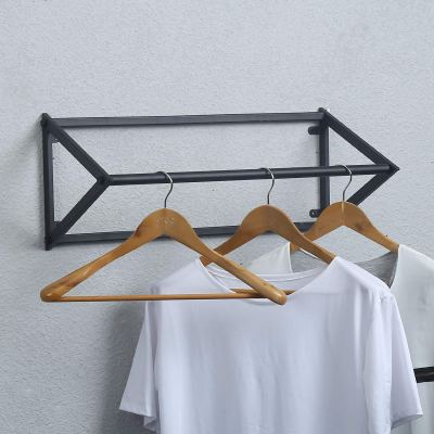 MBQQ Modern Black Metal Clothing Racks Wall Mounted