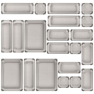 Kootek 21 Pcs Desk Drawer Organizer Trays 4-Size, Bathroom Drawer