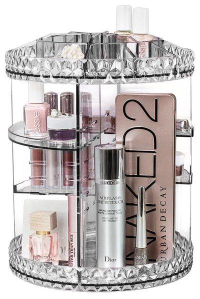 Sorbus Rotating Makeup Organizer, 360° Rotating Adjustable Carousel Storage