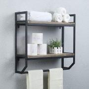 Rustic Bathroom Shelves Wall Mounted