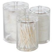 ARAD Cotton Ball, Swab, and Q-tip Storage Set, 1-Piece