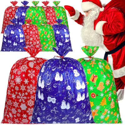 Large Holiday Plastic Storage Bag Christmas Storage