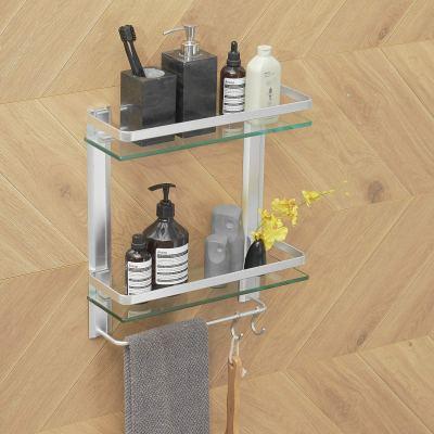 BESy Heavy Duty Lavatory Glass Bathroom Shelf