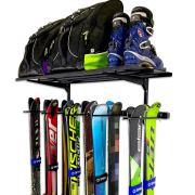 Ski Wall Rack and Storage Garage Shelf