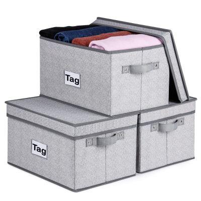 Kntiwiwo Large Storage Bins for Closet Shelves