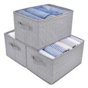 Closet Organizer Shelf Cube Box with Handle Fabric