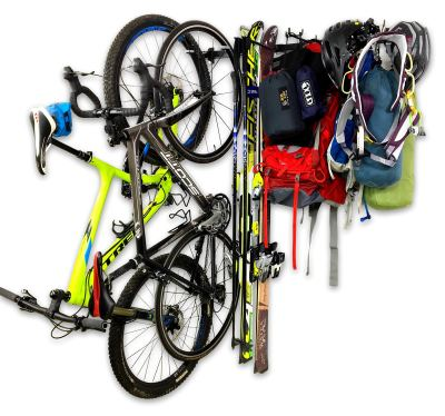 Adventure Wall Storage Rack Holds Bikes Skis Camping Hiking