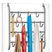 Lynk Over Door or Wall Mount 16 Hook Rack Shirt