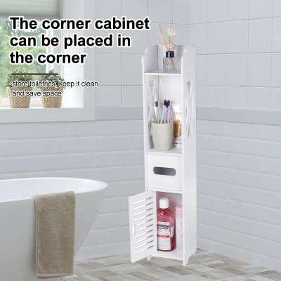 Shower Corner Storage Cabinet Waterproof Organizer