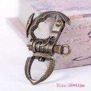 Brass Motorcycle Biker Clasp Key Chain Fob