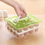 Refrigerator Kitchen Storage Egg Visible Tray Case