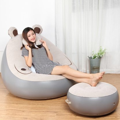 Inflatable Chair Beanbag Sofa Cushion For adults Seat Chair with Inflator  Pump