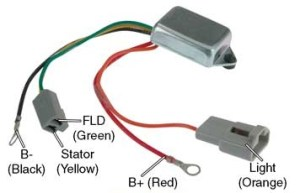 # D7016  Voltage Regulator, 10DN Series Alternators, 12V to 24V Conversion, OneWire (Self