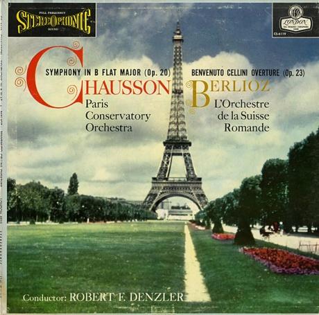 GB LONDON CS6119 ロベルト・F・デンツラー ショーソン・交響曲、ベルリオーズ・序曲「ベンヴェヌート・チェッリーニ」