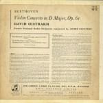 GB COLUMBIA CX1672 オイストラフ&クリュイタンス ベートーヴェン・Vn協奏曲