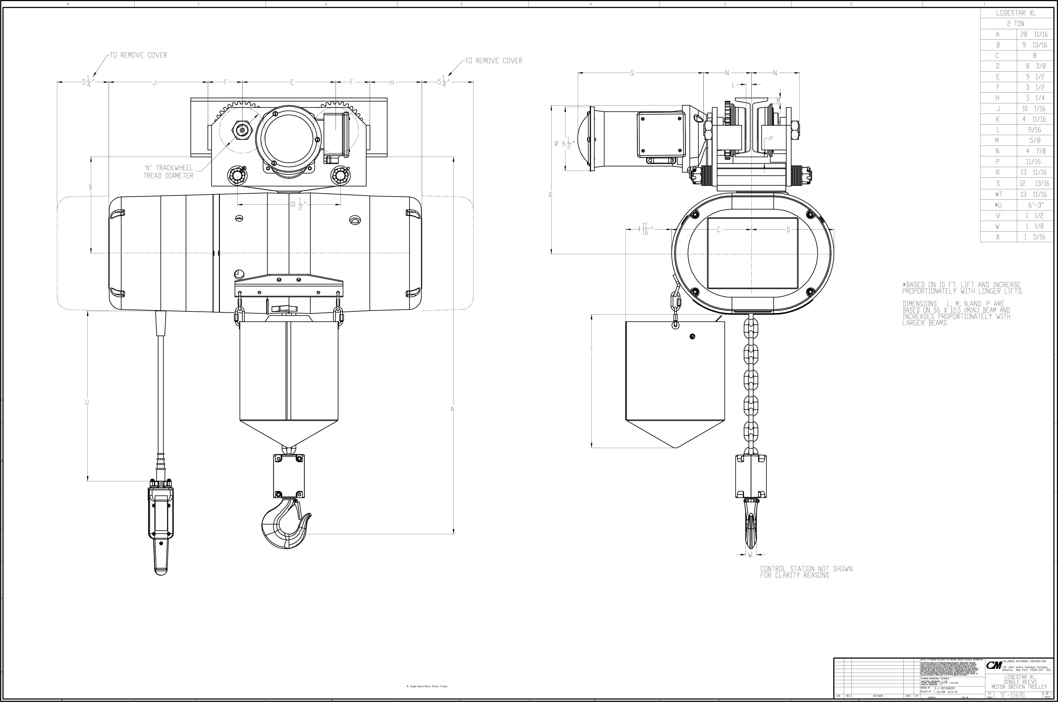 Product Code M Cm Lodestar Xl Electric Chain Hoist
