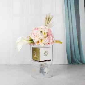 Artificial Flower Money Box