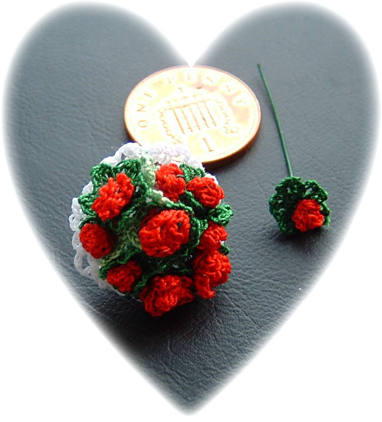 miniature crochet posy