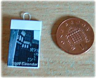 finished miniature calendar