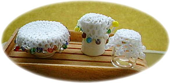 miniature jug and bowl covers