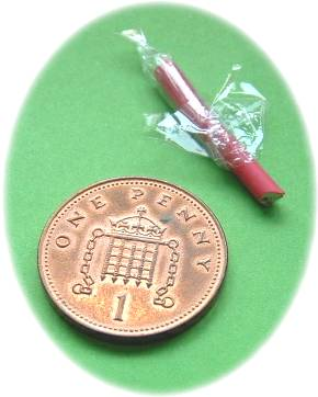 Miniature stick of rock for a doll