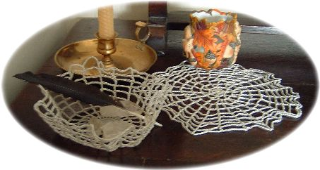 pattern for cobweb doily and bowl