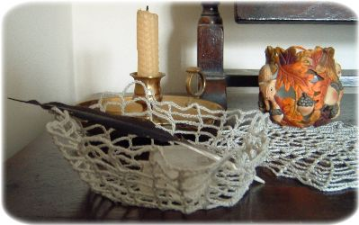 pattern for crochet bowl and doily